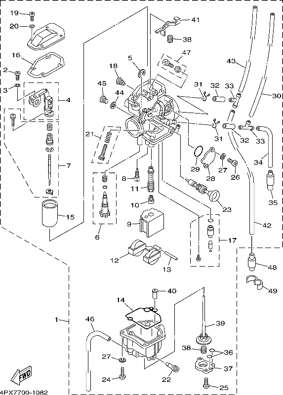 32 Yamaha Ttr 125 Carburetor Diagram
